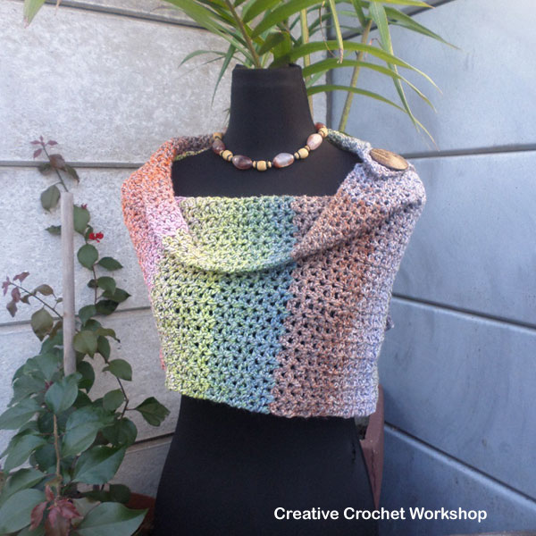 Lacy V-Stitch Shawl - Free Crochet Pattern | Creative Crochet Workshop #freecrochetpattern #crochet @creativecrochetworkshop