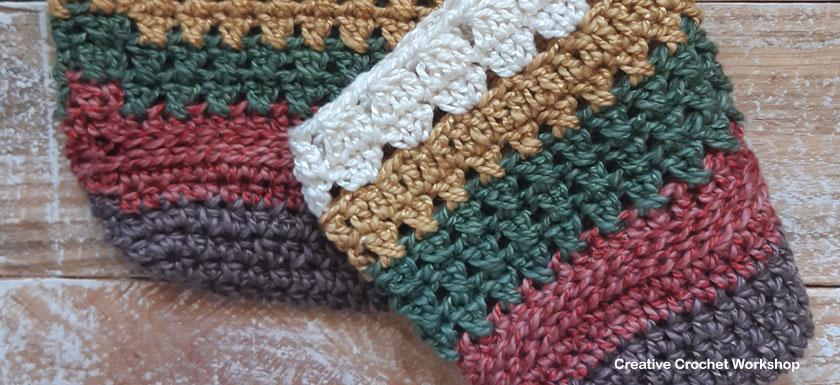 Scrapsrific Rainbow Bag Part One - Free Crochet Pattern | Creative Crochet Workshop #freecrochetpattern #crochet #crochetalong #crochetbag #ccwscrapsrificrainbowbag @creativecrochetworkshop
