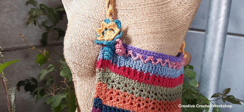 Scrapsrific Rainbow Bag - Free Crochet Pattern | Creative Crochet Workshop #freecrochetpattern #crochet #crochetalong #crochetbag #ccwscrapsrificrainbowbag @creativecrochetworkshop