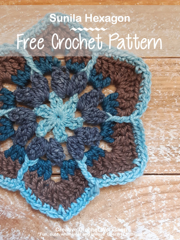 Sunila Hexagon - Free Crochet Pattern | Creative Crochet Workshop #freecrochetpattern #crochet #crochetalong #hexagon @creativecrochetworkshop