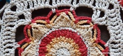 Sunniva Crochet Square - Free Crochet Pattern | Creative Crochet Workshop @creativecrochetworkshop #freecrochetpattern #grannysquare #afghansquare #crochetalong #ccwcassiopeiathrow
