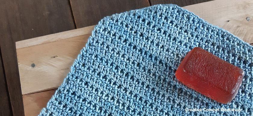 Elongated Single Crochet Stitch Tutorial Washcloth - Free Crochet Pattern | Creative Crochet Workshop #freecrochetpattern #crochet #crochettutorial #crochetwashcloth @creativecrochetworkshop