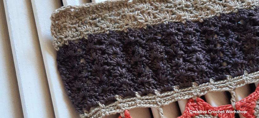Autumn Velvet Shawl Part Two - Free Crochet Along | Creative Crochet Workshop @creativecrochetworkshop #freecrochetpattern #crochetshawl #crochetwrap #crochetaccessorie #crochetalong #ccwautumnvelvetshawl