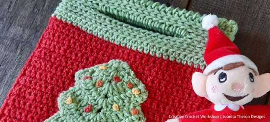 Merry Christmas Tree Crochet Gift Bag- Free Crochet Pattern | Creative Crochet Workshop #freecrochetpattern #crochet #crochetgifts #Christmascrochet @creativecrochetworkshop #CALCentralCrochet #HolidayStashdownCAL
