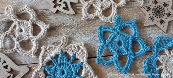 Vintage Snowflake Crochet Ornaments - Free Crochet Pattern | Creative Crochet Workshop #freecrochetpattern #crochet #crochetgifts #Christmascrochet @creativecrochetworkshop #2020crochetgiftalong
