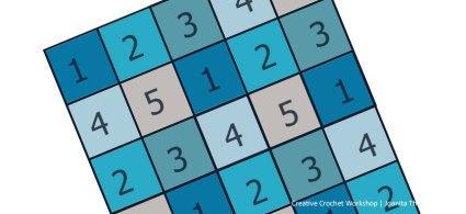 Crochet A Block 2021 Square Layout Guide | Creative Crochet Workshop @creativecrochetworkshop #crochetsquare #freecrochetalong #crochetblanket #crochetthrow #ccwcrochetablock2021