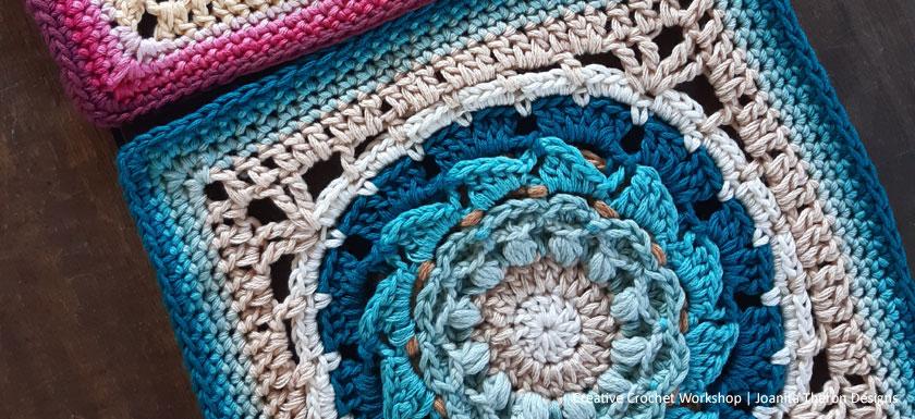 Ezilli Flower Crochet Square - Crochet A Block 2021 | Creative Crochet Workshop @creativecrochetworkshop #crochetsquare #freecrochetalong #crochetblanket #crochetthrow #ccwcrochetablock2021 https://www.creativecr