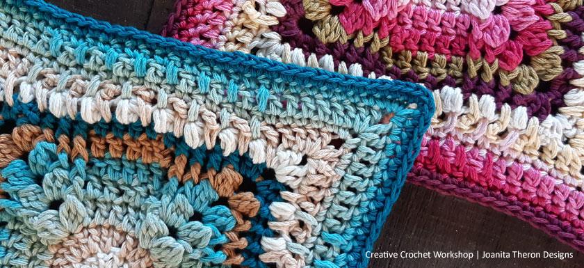 Varuna Flow Crochet Square - Crochet A Block 2021 | Creative Crochet Workshop @creativecrochetworkshop #crochetsquare #freecrochetalong #crochetblanket #crochetthrow #ccwcrochetablock2021