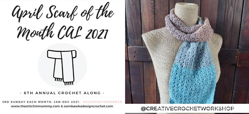 Snazzy Color Crochet Scarf - Free Crochet Pattern | Creative Crochet Workshop #freecrochetpattern #crochet #crochetaccessory #crochetscarf @creativecrochetworkshop #ScarfoftheMonth @thestitchinmommy @oombawkadesigncrochet
