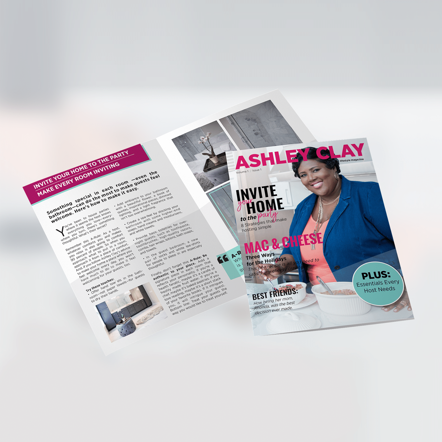 Ashley Clay Brochure Design