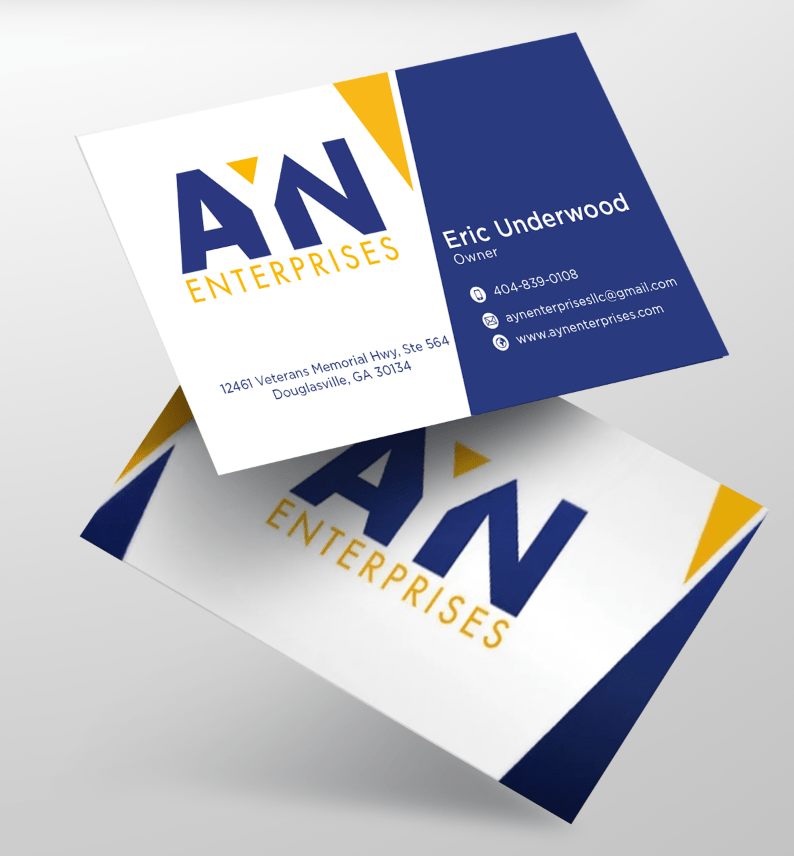 AYN business card design