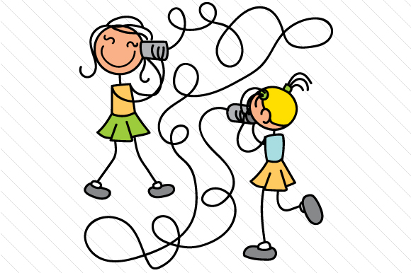 Download Female and Female Stick Figures (SVG Cut file) by Creative ...