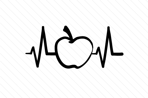 Download Apple Heartbeat (SVG Cut file) by Creative Fabrica Crafts ...