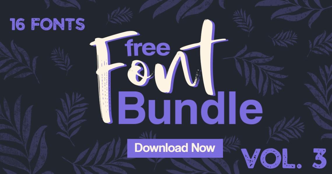 Download Free Font Bundle Vol. 3 (Bundle) · Creative Fabrica