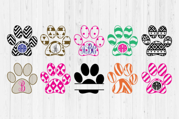Download Free Svg Love With Paw Print