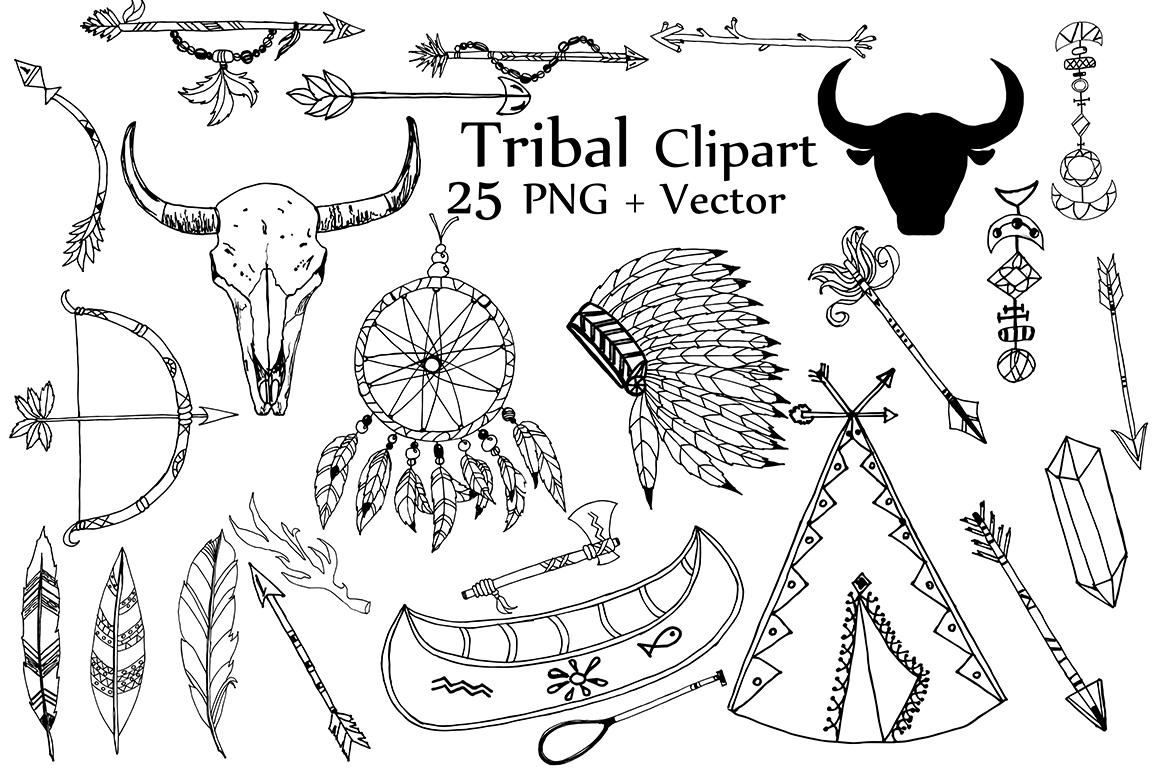 Tribal Clipart Tribal Clip Art Doodle Clipart Dream