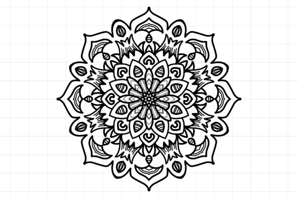 Download Mandala SVG File 01 Graphic by Etnik Mana - Creative Fabrica