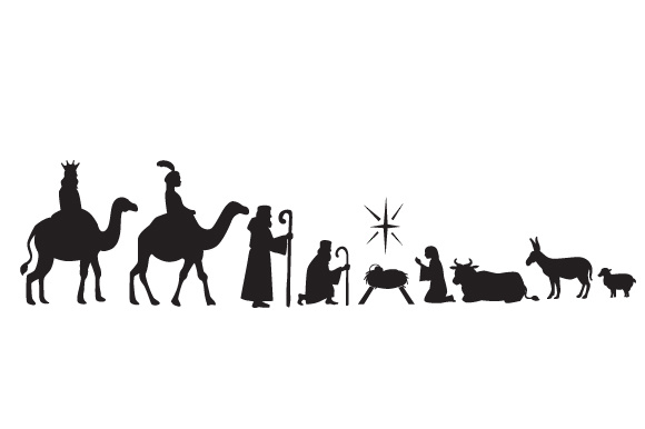Download Oh Holy Night Nativity Scene (SVG Cut file) by Creative ...