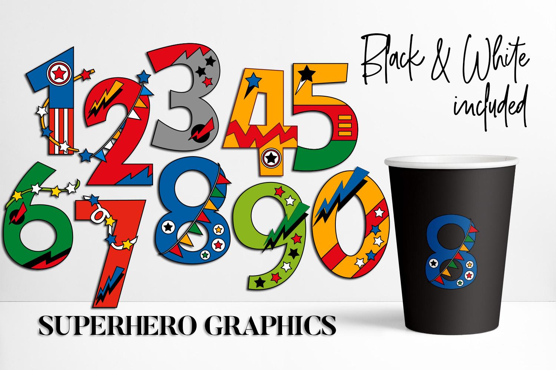 Numbers Superhero Graphic By Darrakadisha