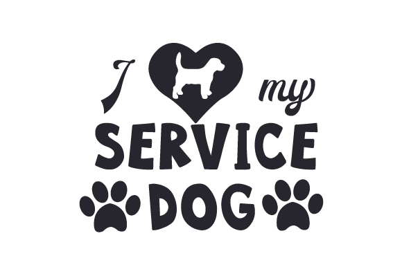 Download I Love My Service Dog (SVG Cut file) by Creative Fabrica ...