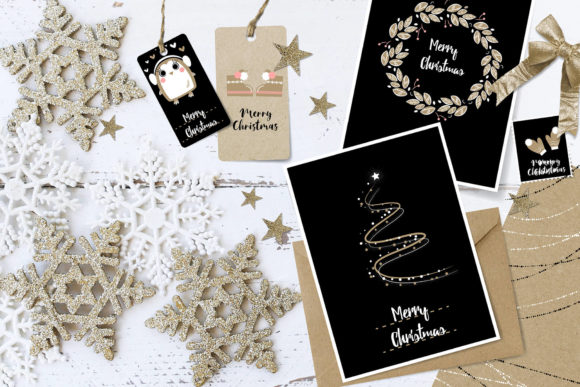 Magical Merry Christmas Doodle Clip Art Bundle Graphic By