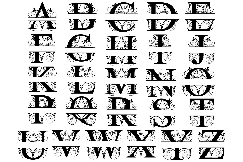 New Split Letters A Z Graphic By Goran Stojanovic