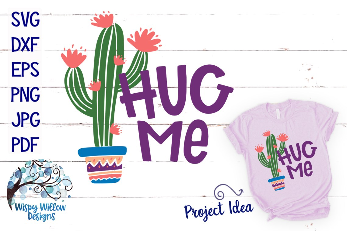 Download Hug Me Cactus SVG (Graphic) by WispyWillowDesigns ...