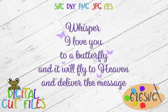 Download Whisper I Love You to a Butterfly SVG (Graphic) by 616SVG ...