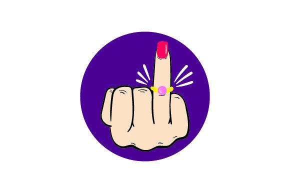 Engagement Ring on Middle Finger Archivos de corte SVG por Creative Fabrica  Crafts · Creative Fabrica