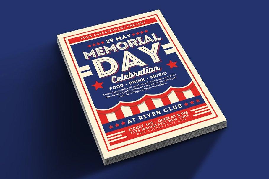 Memorial Day Celebration Flyer Graphic By Muhamadiqbalhidayat Creative Fabrica