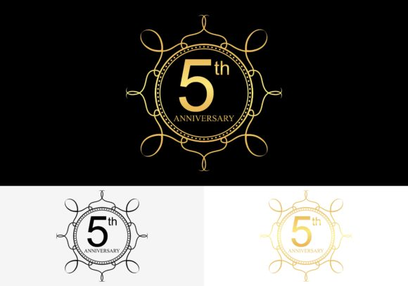 5th 5 Year Anniversary Celebration Logo Graphic By 2qnah Creative Fabrica
