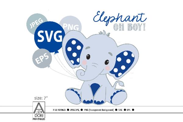 Download Royal Blue Boy Elephant, SVG (Graphic) by adlydigital ...
