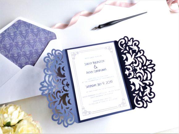 Gate Fold A7 Wedding Invitation