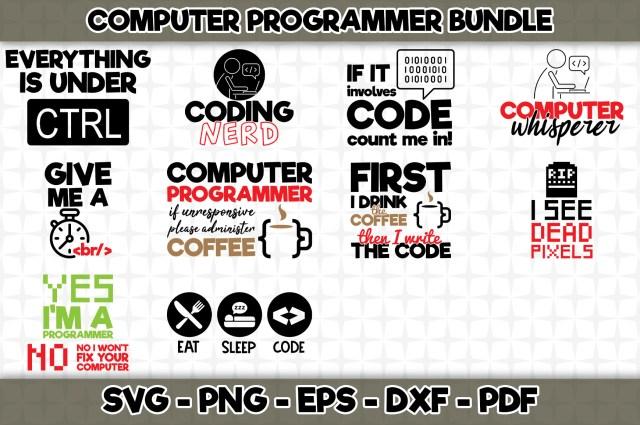 Computer Programmer Bundle - 24 Designs Grafik von SVGExpress