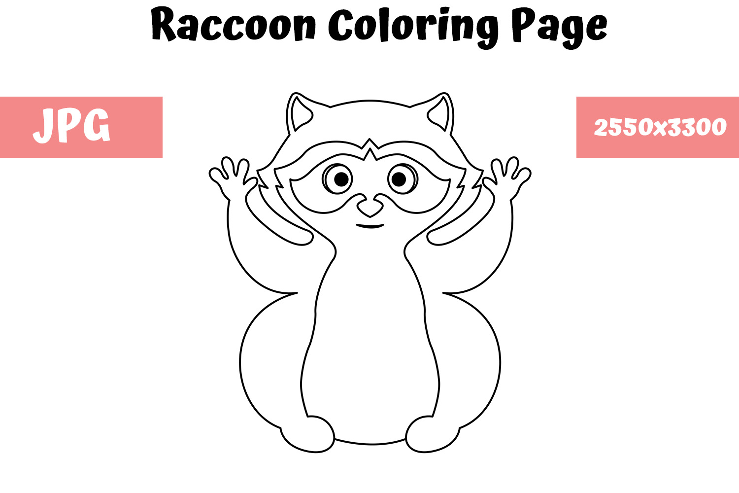 Raccoon Coloring Page For Kids Graphic By Mybeautifulfiles Creative Fabrica