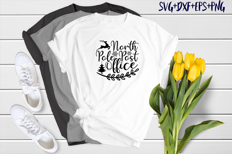 Use this hand lettered design to make shirts, totes, signs, stickers and more. Christmas North Pole Post Office Graphic By Svg Huge Creative Fabrica