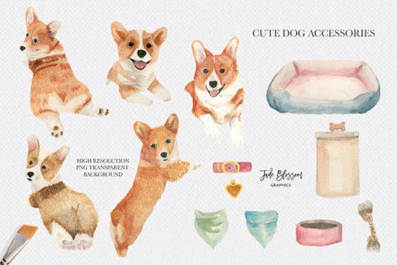 Download Corgi Love - Watercolor Corgis (Graphic) by Jade Blossom ...