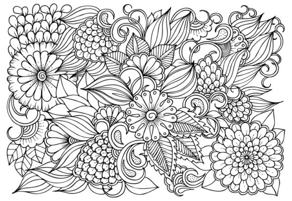 1 Floral Mandala Coloring Pages Designs Graphics