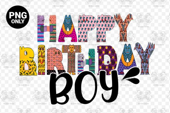 Happy Birthday Boy Birthday Graphic By 99 Siam Vector Creative Fabrica