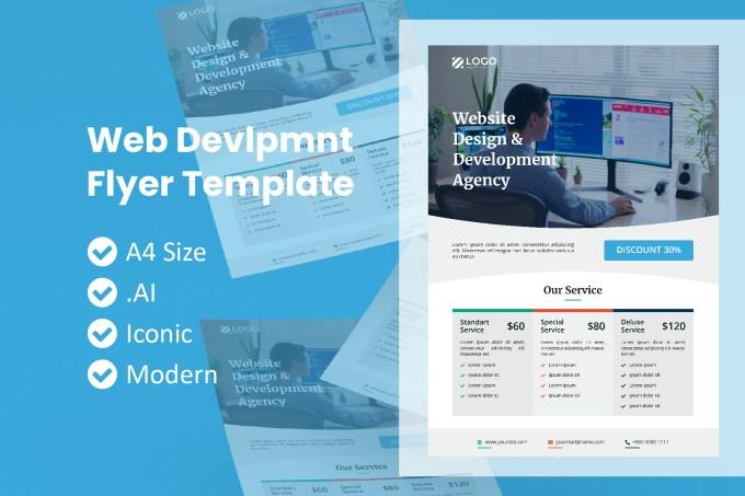 Web Development Service Flyer Graphic By Rivatxfz Creative Fabrica