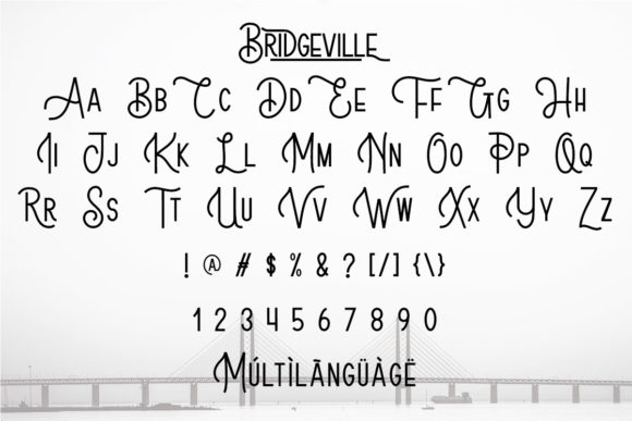 Bridgeville Fonts 17686934 3