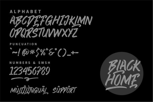 Black Home Fonts 18097508 4