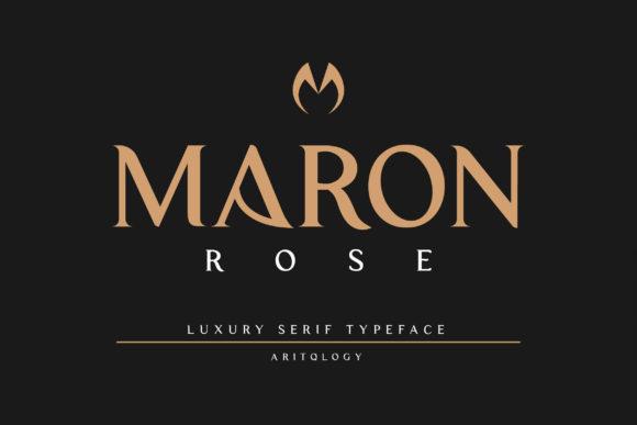 Maron Rose Fonts 18401013 2