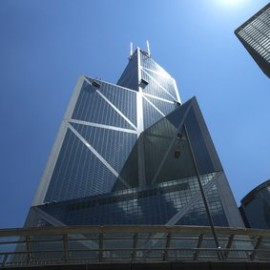 La torre della Bank of China a Hong Kong