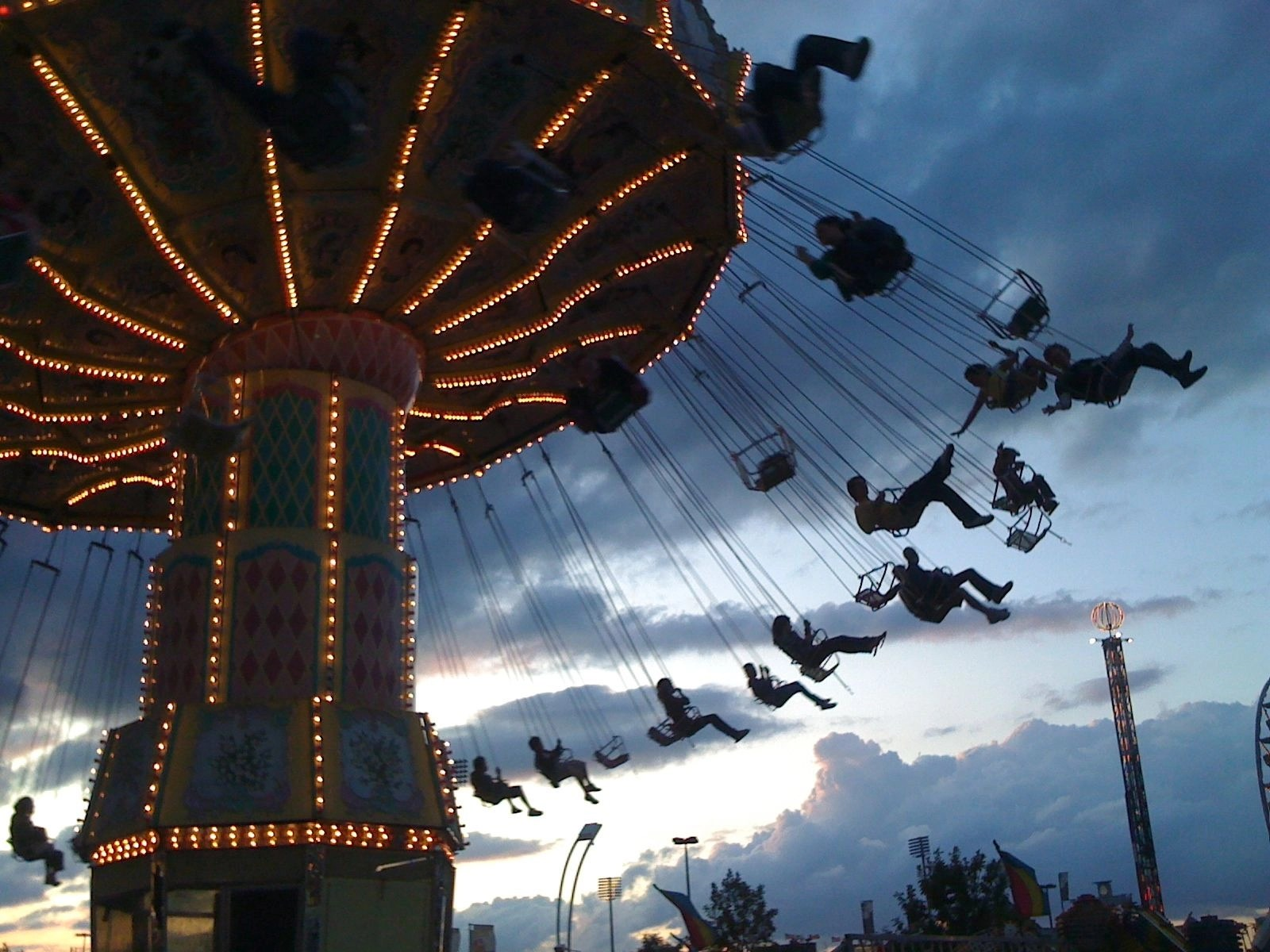 Image result for Amusement ride swings