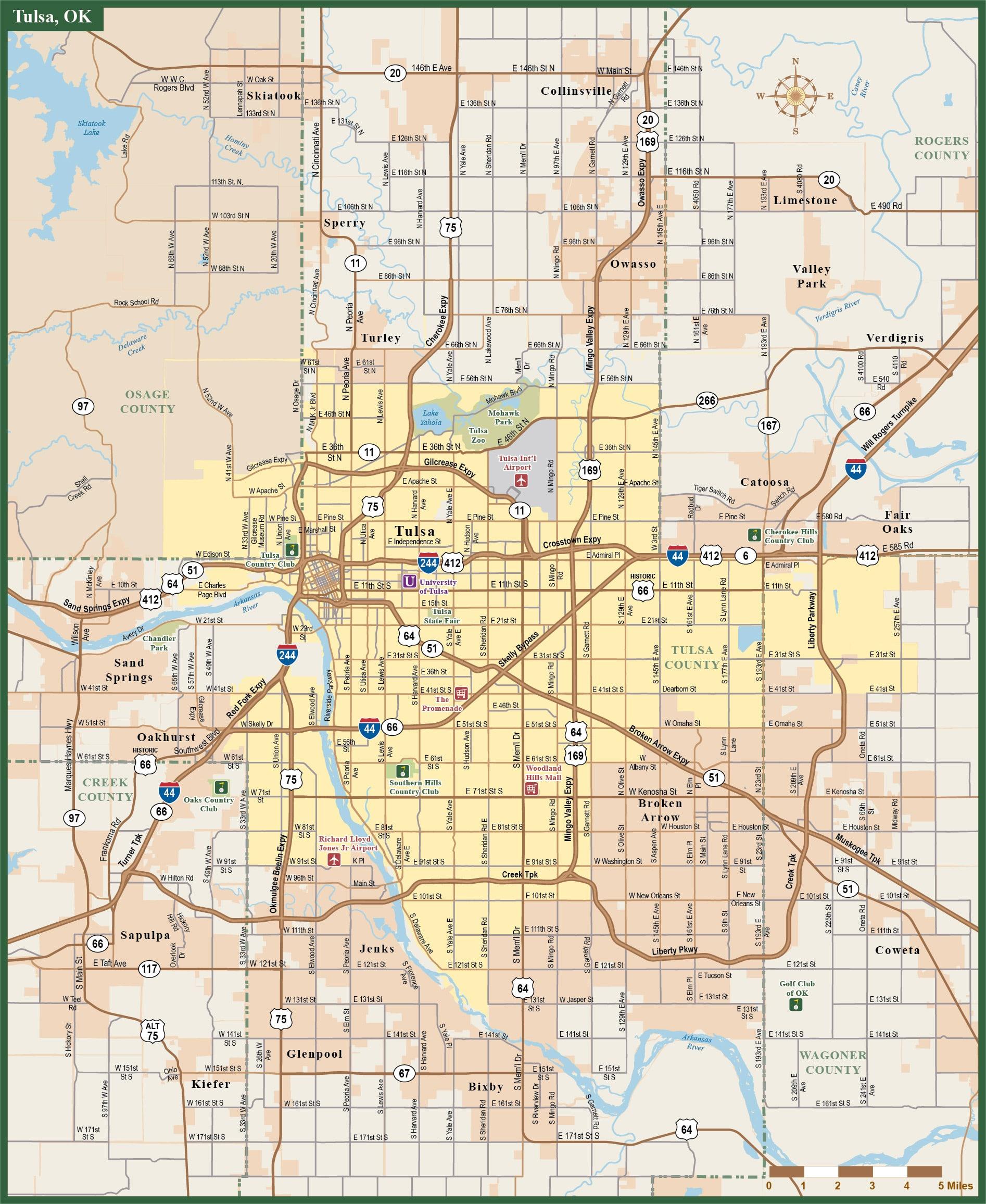 Www Tulsa Ok Zip Code Map