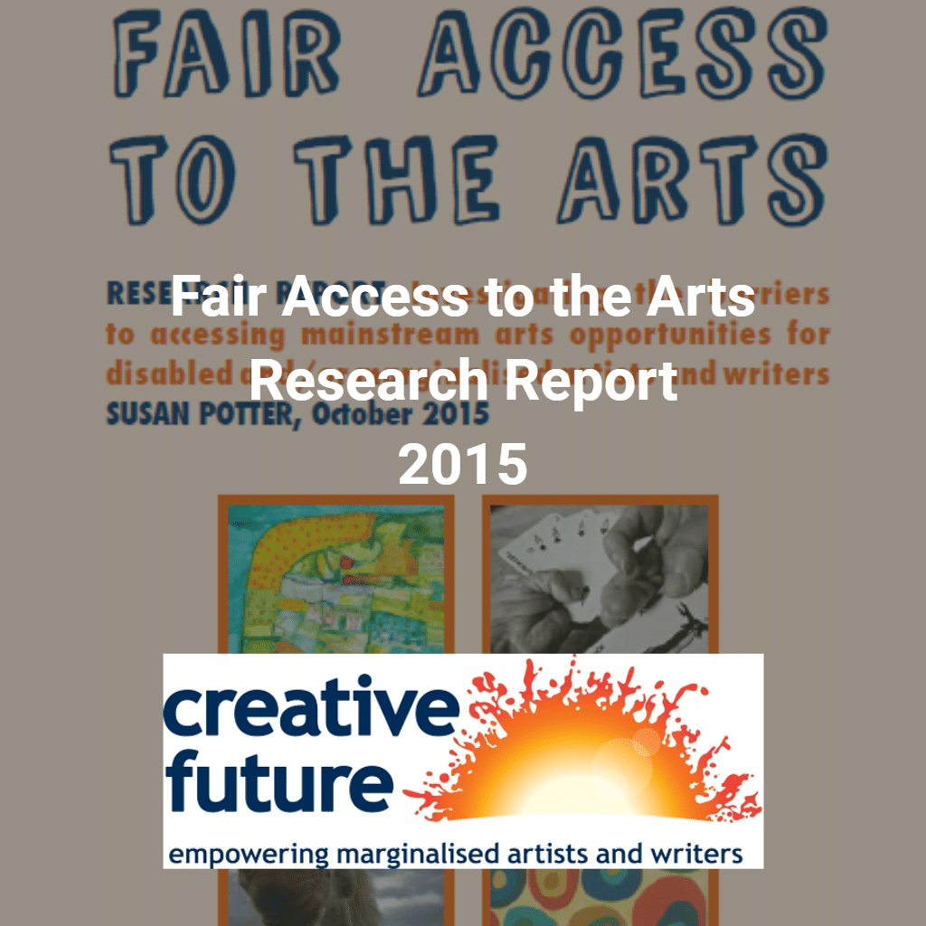 Fair access to the arts