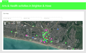 arts and health map - mapping arts and health activities in Brighton & Hove