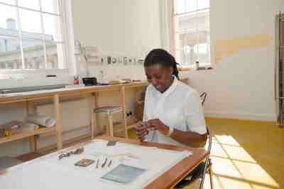 Re:think space – images of Artist in Residence: Maria Amidu.