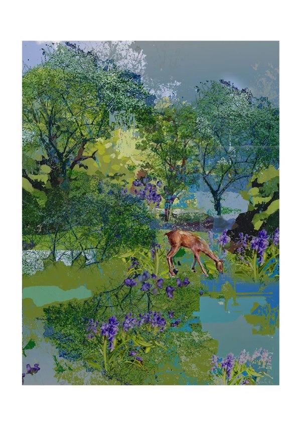 Deer Grazing by Pat Gregson
